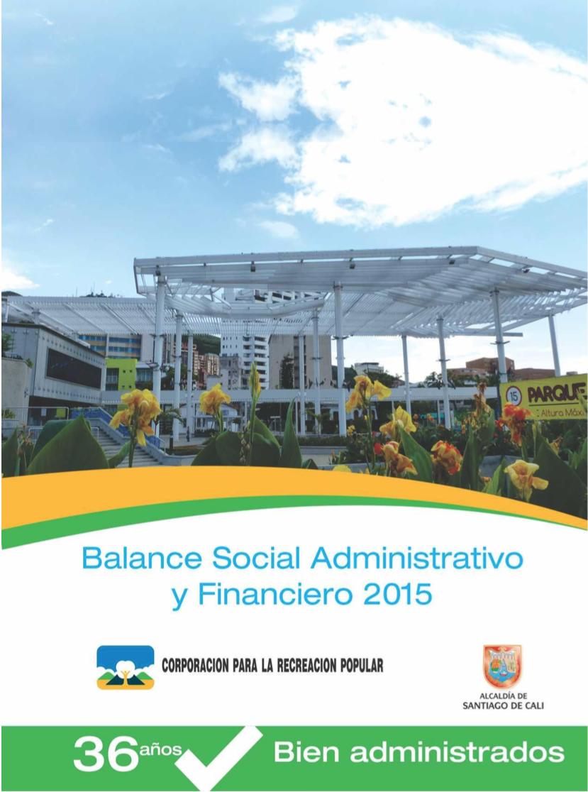 Balance Social administrativo y financiero 2015