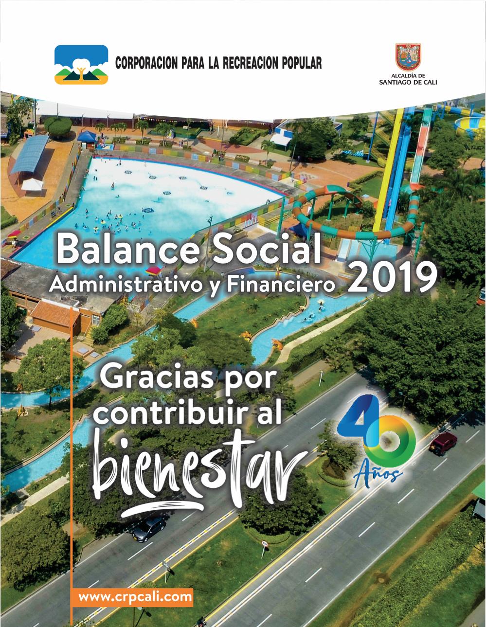 Balance Social administrativo y financiero 2019
